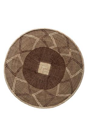 Binga basket white border Ø31-35cm