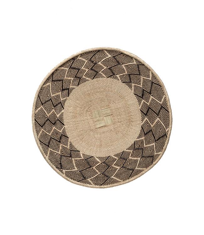 Binga basket white border Ø26-30cm