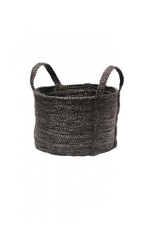 The Dharma Door Round jute basket - charcoal