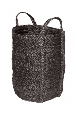 The Dharma Door Laundry jute basket - charcoal