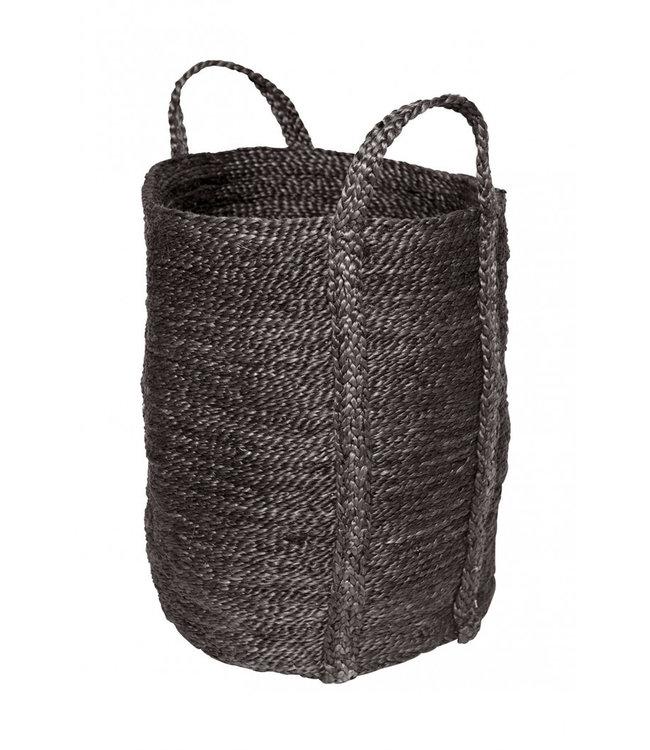 Laundry jute basket - charcoal