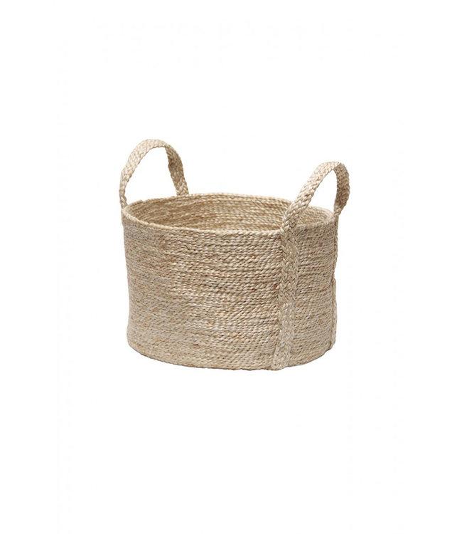 Round jute basket - natural