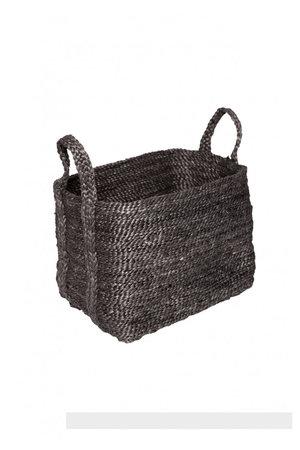 The Dharma Door Small jute basket - charcoal