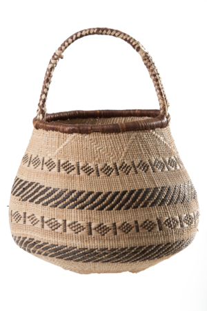 Binga basket with handle