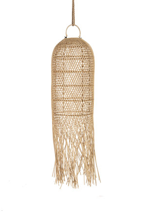 Rattan suspension with long fringes