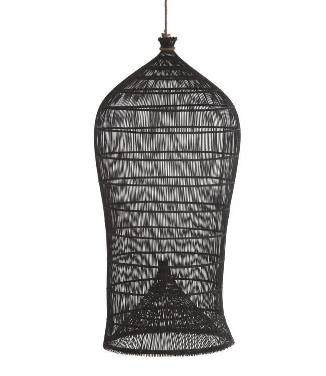 Visfuik lamp Lombok zwart