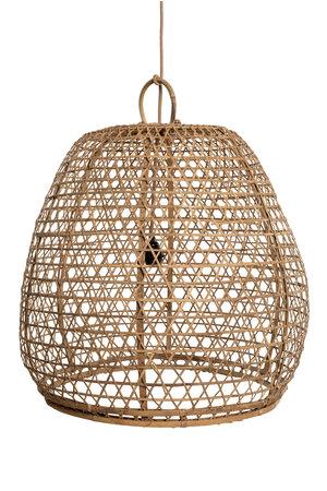 Bamboo basket lamp
