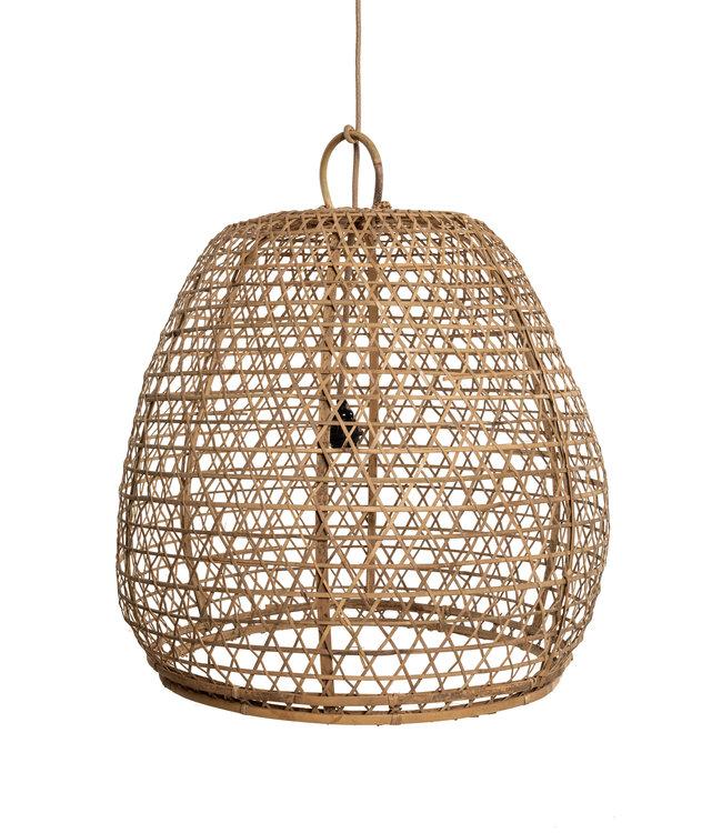 Bamboo basket lampshade