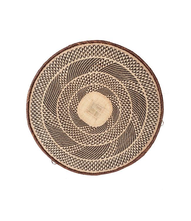 Binga basket brown border Ø51-55cm