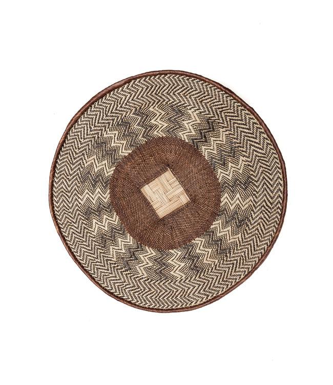 Binga mand bruine rand Ø61-70cm