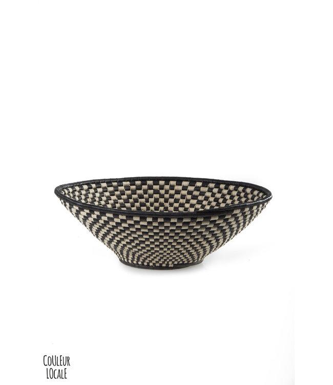 Kwazulu Natal black & white basket