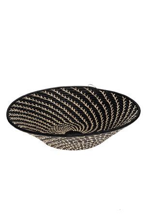 Platter 'Geomatric' white on black