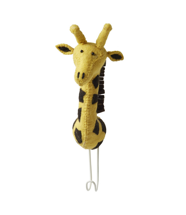 Big single head hook - giraffe