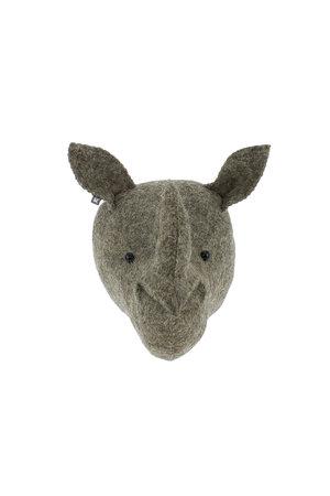 Fiona Walker England Dierenhoofd mini - neushoorn