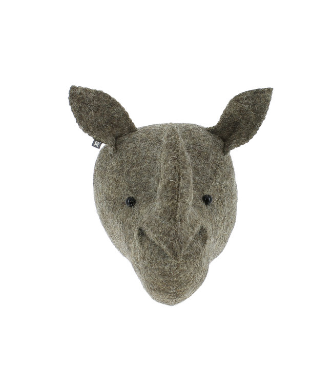 Dierenhoofd mini - neushoorn