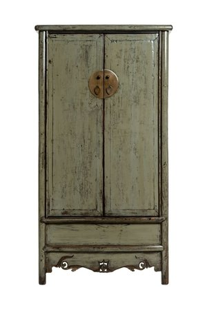 Old Chinese wedding cabinet - green