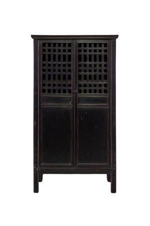 Antique black cabinet