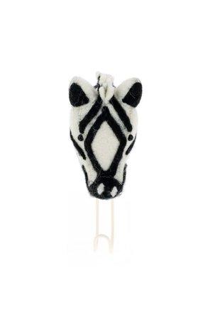 Fiona Walker England Dierenhoofd kapstok - zebra