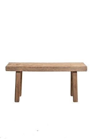 Bench weathered elm wood 106cm  # 3