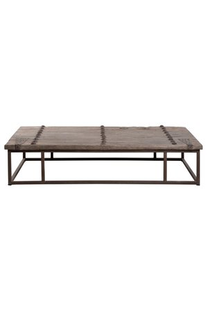 Grote salontafel oude deur met ijzeren beslag