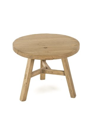 Round elm coffee table