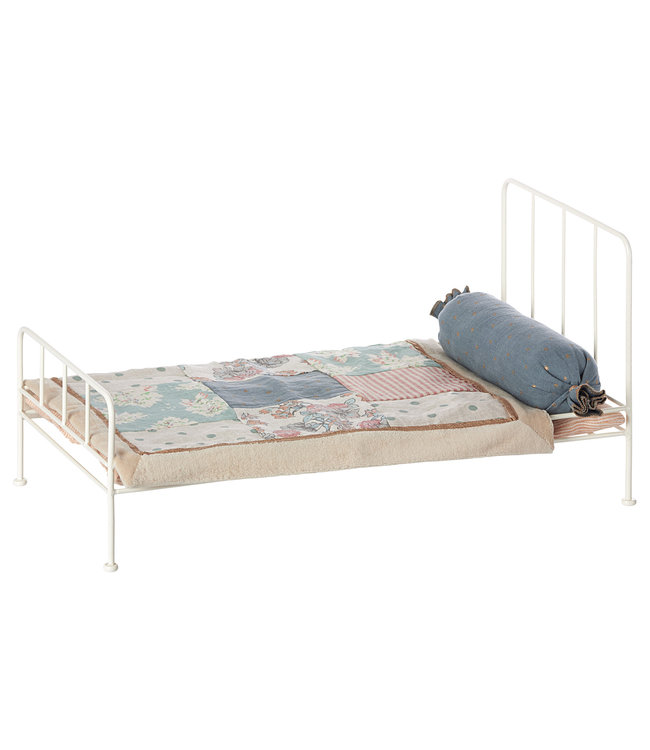 Maileg Medium metal bed - off white