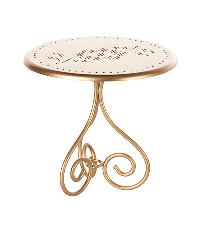 Maileg Coffee table - gold vintage