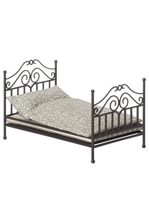 Maileg Micro vintage bed - anthracite