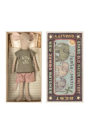 Maileg Medium mouse in box - boy