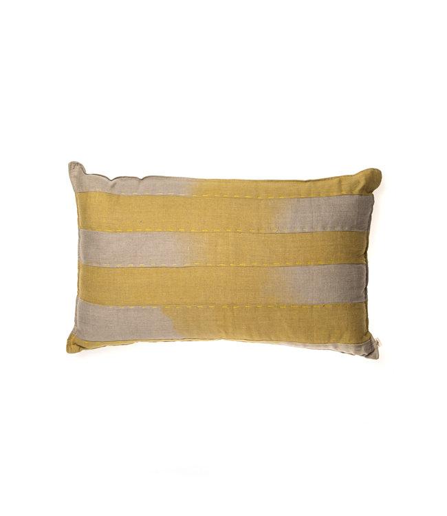 Linen Cushion - Omb yellow