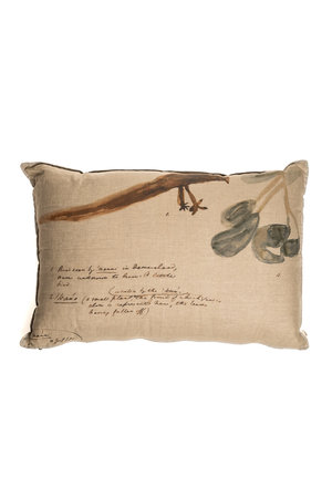 Linen Cushion - Simple embroidery - Man under the three