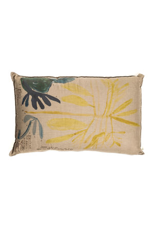 Linen Cushion - Bird branches