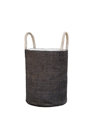 The Dharma Door Basket 'Boda' - charcoal
