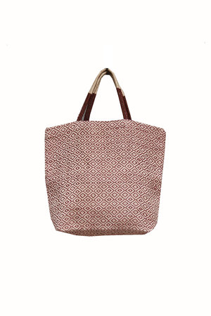 The Dharma Door Jute shopper tannin diamond