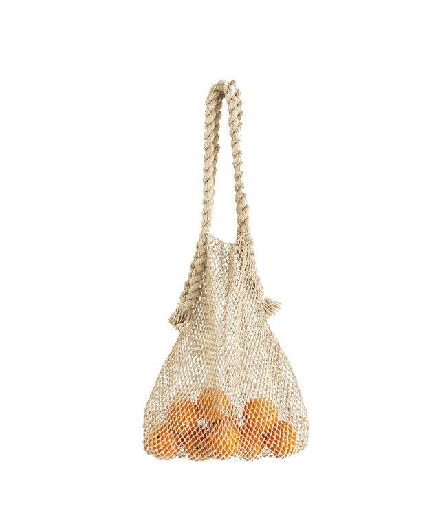 Jumbo hemp string bag - natural
