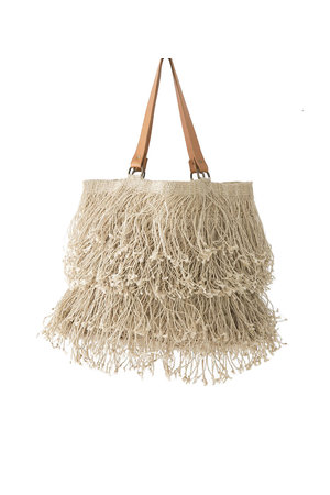 The Dharma Door St Kitts tote with fringes