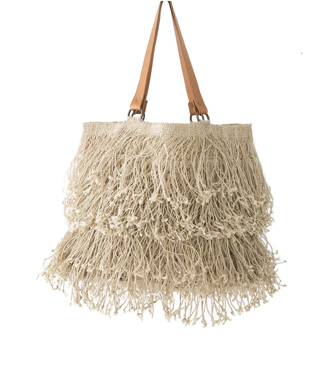 St Kitts tote with fringes