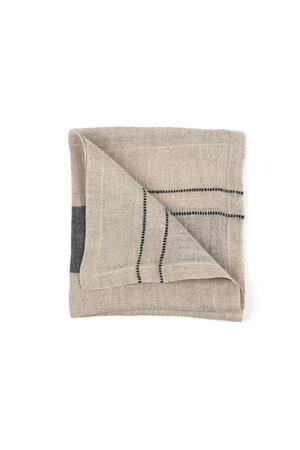 Libeco Davis napkin - black stripe