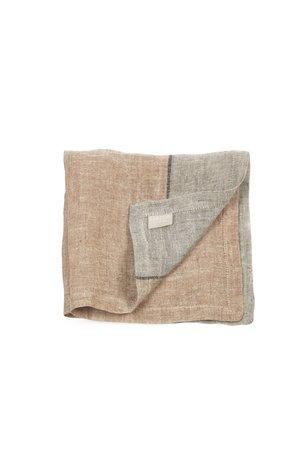 Libeco Feldhaus napkin - arabica stripe