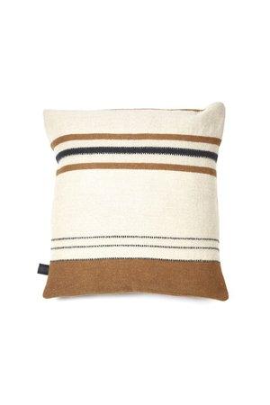 Libeco Foundry deco cushion - beeswax stripe
