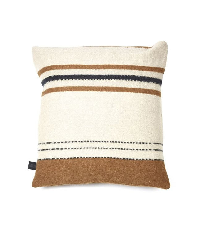 Libeco Foundry deco cushion - beeswax stripe