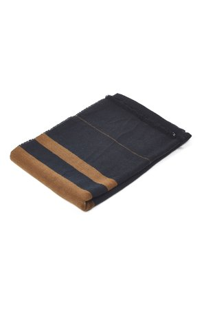 Libeco Oscar throw - black stripe