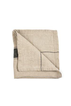 Libeco Thompson napkin - black stripe