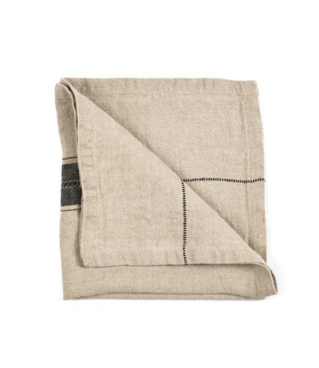 Thompson napkin - black stripe