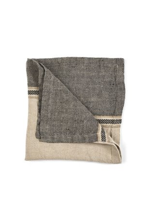 Libeco Thompson napkin - camel stripe