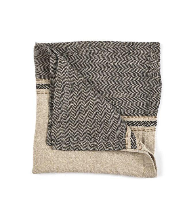 Libeco Thompson napkin - camel stripe