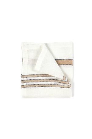Libeco West hinder napkin - weat stripe