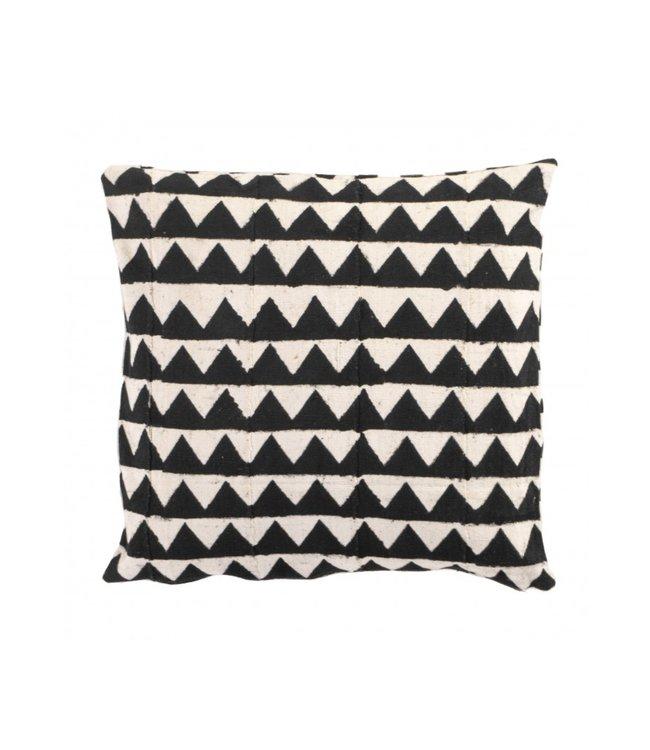 Bogolan cushion  - Peaks - Mali