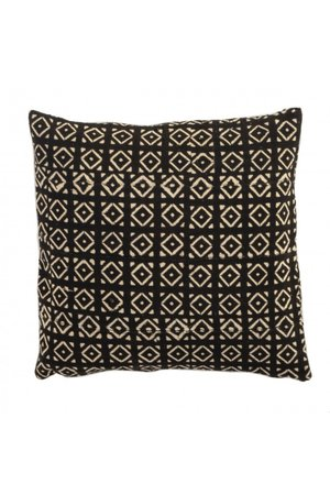 Bogolan cushion  - Diamonds - Mali