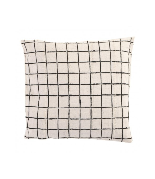 Bogolan cushion  - Squares - Mali